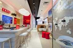 YourStudio helps bring Virgin Holidays to the high street Office Interior Design, Office Interiors, Luxury Cafe, Virgin Holidays, Agency Office, Big Living Rooms, Holiday Store, Travel Office, Retail Concepts