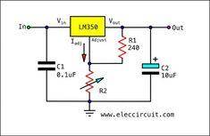 LM350 Basic circuit