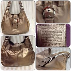 L22. COACH  Maggie Soho Leather Hobo 17219. Starting at $45 on Tophatter.com!