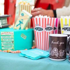Now, this isn't your ordinary movie themed party – Gina of Gina Lee Photography shares with us how she transformed the back of her vehicle and styled vintage couches at her local drive-in to celebrate her daughter's birthday. From movie speaker cake pops to personalized gifts for all the guests, this is one birthday to remember.