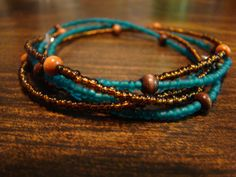 3 in 1 Wrap Bracelet double strand by newDawncreations on Etsy, $26.00    my own creation :)