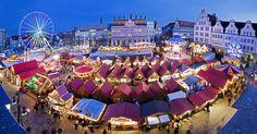 El mercadillo de Navidad de Rostock en #Alemania