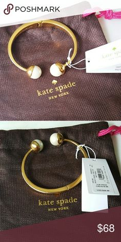Kate Spade Cuff Bracelet New Kate Spade Cuff Bracelet  * Please message me for all inquiries. * Same or next day shipping.  * All purchase are greatly appreciated. * 10% off Bundle * No Trades kate spade Jewelry Bracelets