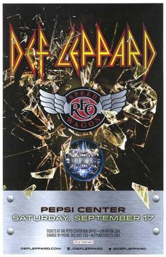 Concert poster for Def Leppard and  REO Speedwagon at The Pepsi Center in…