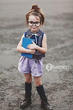 nerd chic inspired look for girls
