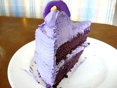 Philippine Ube Cake with Buttercreme Frosting