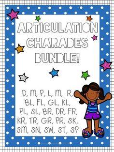 Articulation Charades - BUNDLE! #TPT #SLP #TeachersPayTeachers #SchoolBasedSLP #SpeechTherapy