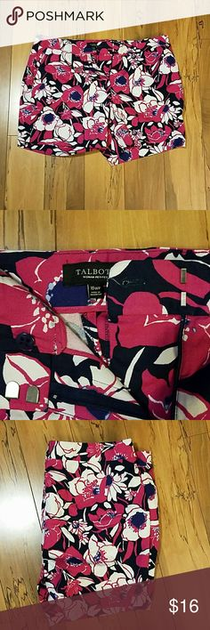 Talbots 16WP Shorts Super cute Talbots shorts. Like brand new! Size 16WP.  Pink, Navy, and White colors with flower pattern. Talbots Shorts Bermudas