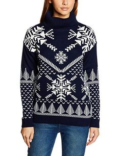 British Christmas Jumpers Snowflake Polo Neck Womens Christmas Sweater Medium -- Details can be found by clicking on the image. Couples Christmas Sweaters, Couple Christmas, Womens Christmas Jumper, Cute Christmas Sweater, Christmas Jumpers, Diy Christmas, Roll Neck Jumpers, Jumpers For Women, Ugly Sweater