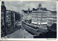 #Alte #Ansichtskarten und alte #Postkarten #Hamburg, Die Hochbahn am Rödingsmarkt, Geschäfte