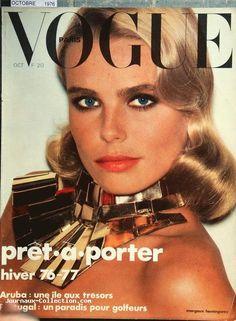 Margaux Hemingway, photo by Helmut Newton, Vogue Paris, October 1976**