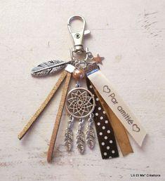 """Bijou de sac, grigri, Lili et Ma* Créations """"Attrape-rêves"""" : Porte clés par lili-et-ma-creations"""