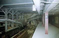 ~ Rubble covers the tracks of the NYC Subway + lines in the Cortland Street station under the World Trade Center, in this photo taken shortly after the attacks. World Trade Center, Trade Centre, We Will Never Forget, Lest We Forget, 11 September 2001, Nyc Subway, Modern History, 911 History, New York City