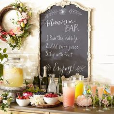 Your brunch guests can become mixologists with a make-your-own mimosa bar. A little sweeter? A little stronger? Let them experiment!…
