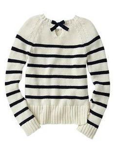 Stripe bow-back sweater | Gap