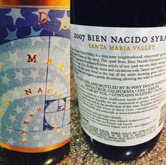 """""""This nearly 10 y. Bonny Doon Vineyard Syrah under screwcap holding up just fine! Fresh black fruits green peppercorn and spice! Santa Maria Valley, Green Peppercorn, Wine Reviews, Decanter, Vineyard, Spice, The Neighbourhood, Fresh, Drinks"""