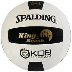 This Spalding® King of the Beach volleyball is the official King of the Beach tour and USA Tournament volleyball. Designed for all weather, this outdoor competitive volleyball is built with a hand-stitched composite cover. Volleyball Online, Volleyball Games, Beach Volleyball, King Beach, Rio Olympics 2016, Soccer Ball, Tours, Sports, Outdoor