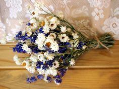 Simple Country Bridesmaid Dried Flower Bouquet by theflowerpatch
