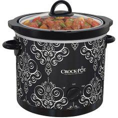 Walmart: Crock-Pot 4-Quart Manual Slow Cooker, Black/White on Wanelo