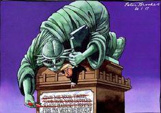 Donald Trump et son décret anti-immigration ne plaisent pas à tout le monde... La preuve avec ces 16 illustrations satiriques !