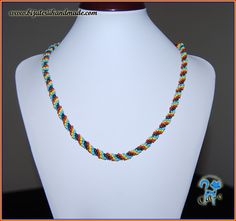 tricolor c2 Beaded Necklace, Handmade, Jewelry, Fashion, Beaded Collar, Moda, Hand Made, Jewlery, Bijoux