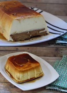 Tarta de queso con galletas y caramelo. Una receta fácil, barata y sin horno.