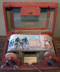 Twelve-Plate panorama, with viewing case open.
