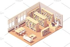 Buy Vector Isometric University Library by on GraphicRiver. Vector isometric school, college or university library interior cross-section. Music Classroom, School Classroom, Teachers Room, Minecraft Architecture, Isometric Design, Licence Lea, Computer Lab, Outdoor Playground, Photoshop Design