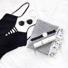 Summer essentials by @anorganisedlife  Shop the @becandbridge Ladder One piece in store & online at @lookbook_boutique  #becandbridge #becandbridgeswim #lookbookboutique #onepiece #summer #beach #flatlay #essentials #shopping #ootd #online #ootn #blackandwhite #monochrome #alburyboutique #albury #newarrivals #swimwear #australianlabels