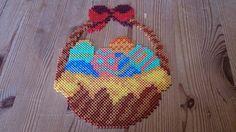 Easter basket hama perler beads by Susanne Damgård Sørensen