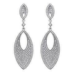 .925 Sterling Silver CZ Micro Pave Double Teardrop Shimmering Dangle Earrings with Push-back The World Jewelry Center. Save 61 Off!. $76.00. Rhodium coated for more shine.. From our exclusive Shimmering Collection, this item showcases the finest Sterling Silver available today!. Promptly Packaged with Free Gift Box and Gift Bag. Special manufacturing process held to ensure less wear and tarnish