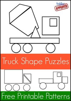 Toddler Approved!: Mom Project: Truck Shape Pattern Puzzles