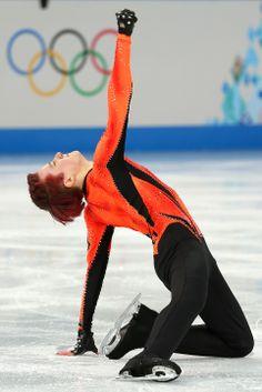 Misha Ge of Uzbekistan competes during the Men's Figure Skating Short Program (c) Getty Images