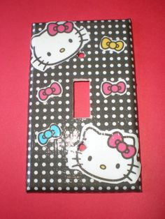 Hello Kitty  and bows Single Light Switch by COUTURELIGHTPLATES, $4.95