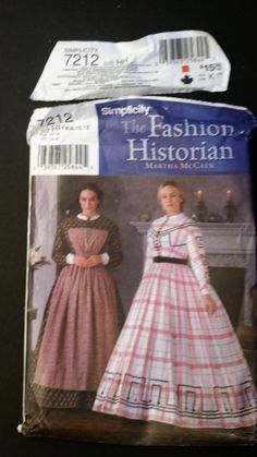 4007b24fd5b8a Up for your consideration is this uncut Fashion Historian Simplicity  pattern. Style - 7212 Size