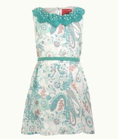 Anotahshop.com | Dress with floral prints & embellishments #fashion