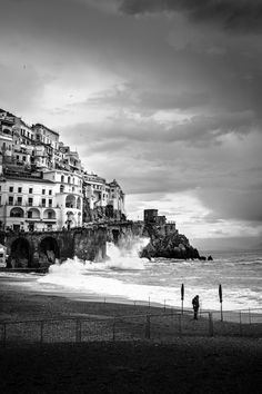 Thinking - On the beach of Amalfi, Costiera Amalfitana, Italy.