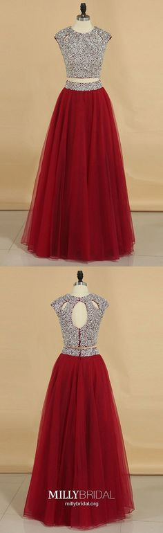 Red Prom Dresses Long, Two Piece Prom Dresses Princess, Tulle Prom Dresses Beading, Sequin Prom Dresses Sparkly Modest Formal Dresses, Sparkly Prom Dresses, Formal Dresses For Teens, Formal Dresses For Weddings, Tulle Prom Dress, Formal Evening Dresses, Prom Gowns, Formal Prom, Homecoming Dresses