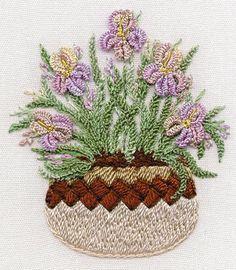 Brazilian Embroidery   - Brazilian Embroidery pattern stitched with EdMar rayon Brazilian ...