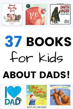 With Mother's Day behind us and Father's Day fast approaching (along with warmer weather!) I thought it would be a good idea to put together a list of ADORABLE books that highlight the love kindness and protection that Daddies share for their little ones! Best Children Books, Toddler Books, Childrens Books, Vader And Son, All Family, Happy Family, I Love My Dad, Thing 1, New Dads