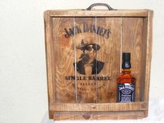 Jack Daniel's  wooden box .