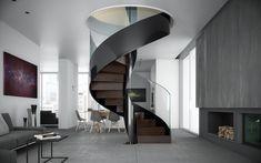 Spiral helical staircase Vortika by Officine Sandrini