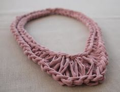 Fancy Tiger Crafts: New! Be Sweet T-Shirt Yarn (t-shirt yarn necklace pattern!)
