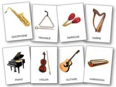 Kids Pages Free Printable Music Instruments Flash Cards