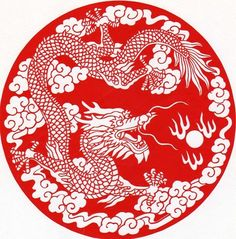 Paper Cutting – Chinese Dragon