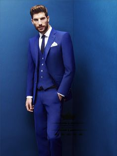 Find More Suits Information about Costume home Royal Blue Tuxedo Wedding Suits With Pants Mens Suit  Tuxedos Slim Fit Grooms Jacket+Pants+Vest 3 Piece  NBG200,High Quality suit,China suit tweed Suppliers, Cheap suit bathrobe from NBG AIH on Aliexpress.com