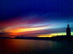 Sunset in Stockholm ~ by Briela Gabriella