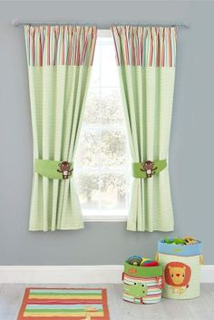 Jungle Brights Pencil Pleat Blackout Lined Curtains From The Animal Nursery Thenurseries