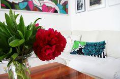 poduszka z tkaniny Marimekko Siirtolapuutarha;