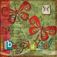 Posterazzi Just Be Playful Canvas Art - Victoria Hutto (24 x 24)